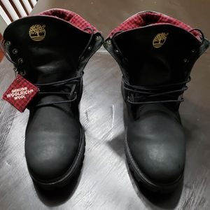 Timberland Men Roll Top Black/Red Boots